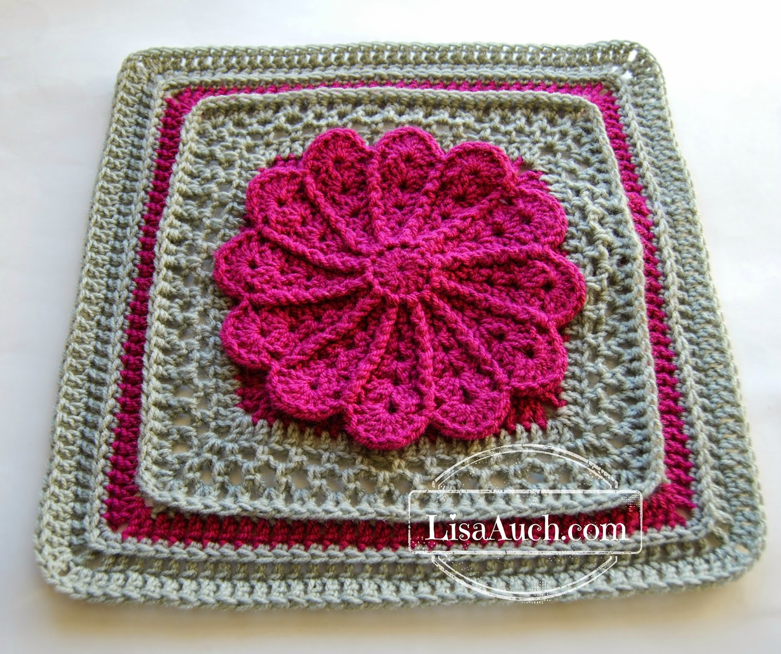 Free Crochet Patterns And Designs By Lisaauch : Pane in My Dahlia ~ FREE Crochet Pattern