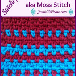 Stitchopedia: Crochet Linen Stitch AKA Moss Stitch {Tutorial} ~ Jessie At Home