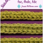 Stitchopedia ~ Foundation Crochet: FSC, FHDC, FDC ~ Jessie At Home