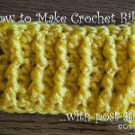 Crochet Ribbing ~ Crochet Kitten