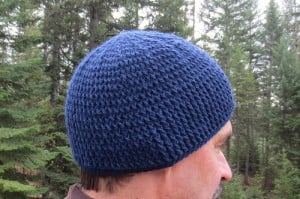 Thick Front Post Crocheted Hat ~ My Recycled Bags