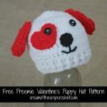 Preemie Valentine's Puppy Hat ~ Cream Of The Crop Crochet