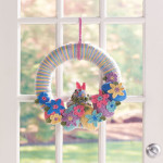 Easter Bunny Wreath ~ Sharon Mann - Red Heart