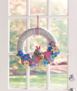 Easter Bunny Wreath ~ Sharon Mann - Red Heart