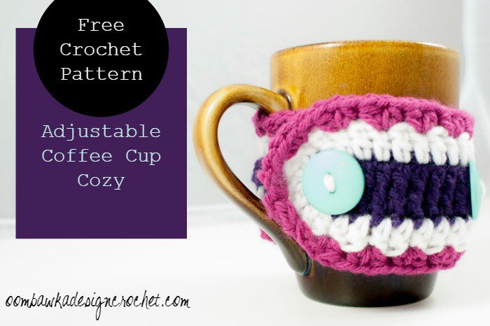 Adjustable Coffee Cup Cozy ~ Oombawka Design