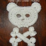 Bear Skull n Bones Applique ~ Manda Proell - MandaLynn's Crochet Treasures