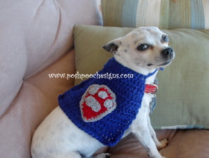 Super hero Dog Cape ~ Sara Sach - Posh Pooch Designs
