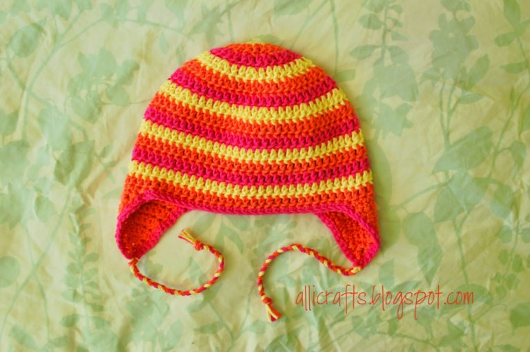 Earflap Hat ~ Youth/Adult Small ~ Alli Crafts