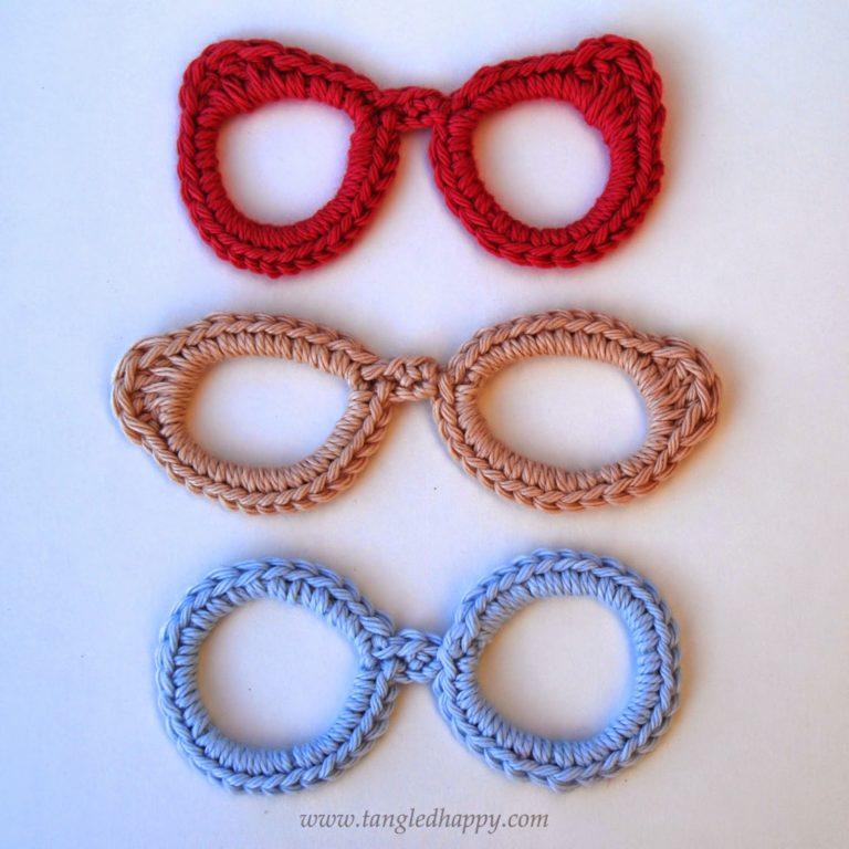 Eyeglasses Applique ~ Tangled Happy