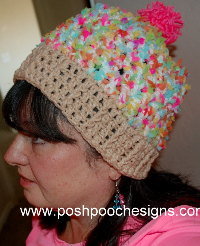 Cupcake Birthday Hat ~ Sara Sach - Posh Pooch Designs
