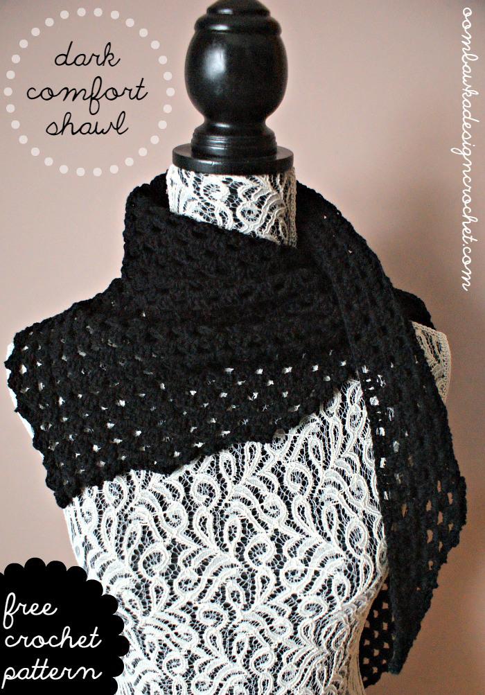 Dark Comfort Shawl ~ Oombawka Design