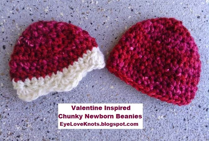 Newborn Twin Chunky Beanies ~ Alexandra Richards - EyeLoveKnots
