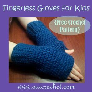 Fingerles Gloves For Kids ~ Oui Crochet