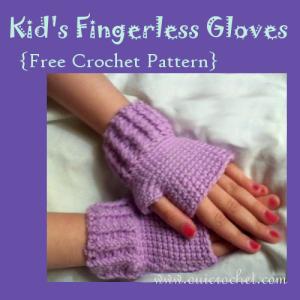 Kids Fingerless Gloves ~ Oui Crochet