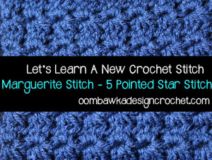 Marguerite Stitch/Star Stitch ~ Oombawka Design