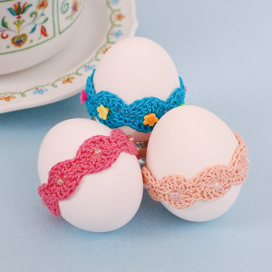 Lace Wrap Egg Decor ~ Petals to Picots