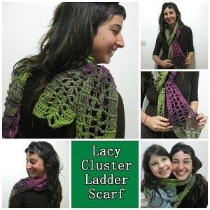 Lacy Cluster Ladder Scarf ~ Meladora's Creations