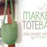 Market Tote Bag ~ Rebecca Langford - Little Monkeys Crochet