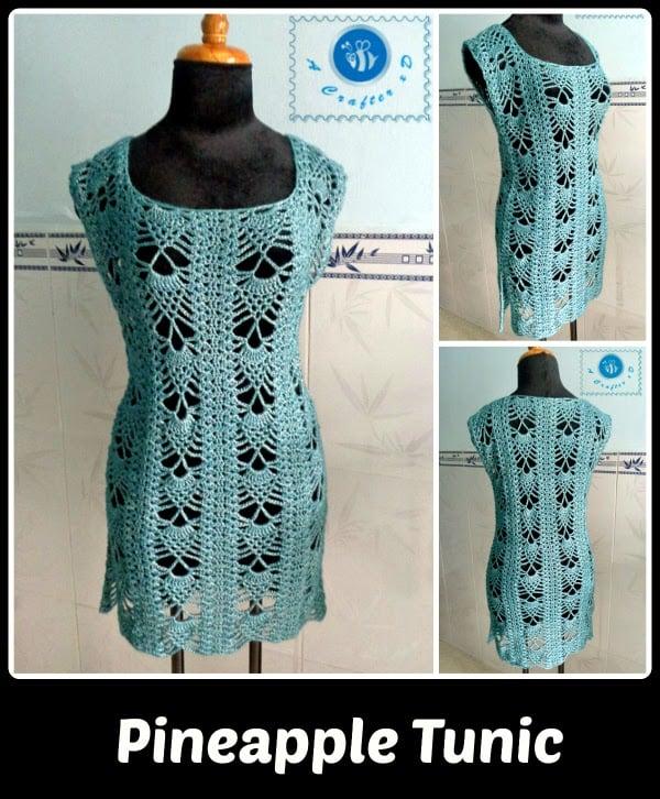 Pineapple Tunic Free Crochet Pattern