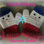 Smiley Mitts ~ American Crochet