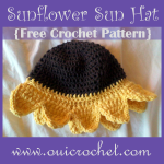 Sunflower Sun Hat ~ Oui Crochet