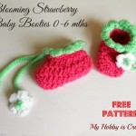 Blooming Strawberry Baby Booties ~ My Hobby is Crochet