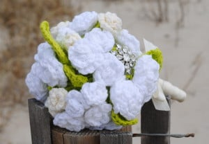 Bridal Flowers - Bouquet and Boutonniere ~ Cre8tion Crochet