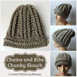 Chains and Ribs Chunky Slouch ~ Rhelena - CrochetN'Crafts