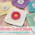 Wildflower Granny Square ~ Rebecca Langford – Little Monkeys Crochet