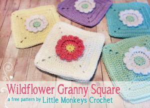 Wildflower Granny Square ~ Rebecca Langford - Little Monkeys Crochet