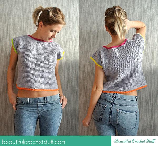 Crochet Crop Top Free Pattern ~ Jane Green - Beautiful Crochet Stuff