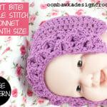It Won't Bite! Crocodile Stitch Baby Bonnet ~ Oombawka Design