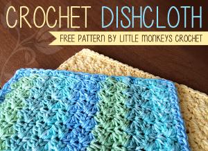 Crochet Dishcloth ~ Rebecca Langford - Little Monkeys Crochet