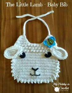 Little Lamb Crochet Baby Bib ~ My Hobby is Crochet