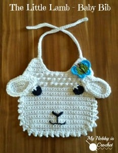 Little Lamb Crochet Baby Bib ~ My Hobby is Crochet