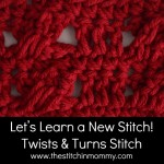Twists and Turns Stitch Tutorial ~ The Stitchin' Mommy