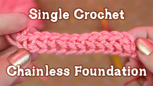 Single Crochet Chainless Foundation ~ Gleeful Things