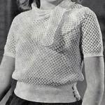 Butterfly Mesh Blouse ~ Free Vintage Crochet