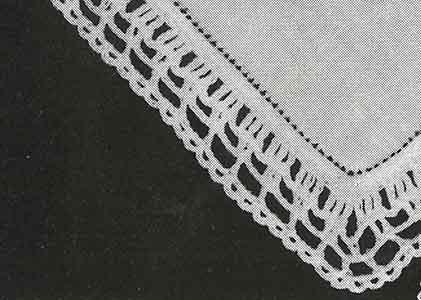 Handkerchief Edging No. 8193 ~ Free Vintage Crochet