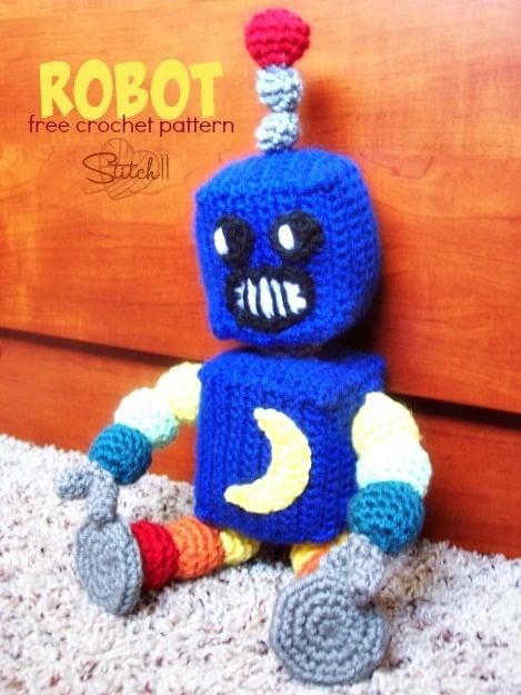 Amigurumi Muñeco Tejido Crochet Robot - $ 490,00 en Mercado Libre   625x469