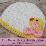 Preemie Chick Applique Hat ~ Cream Of The Crop Crochet