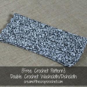 Double Crochet Washcloth/Dishcloth ~ Cream Of The Crop Crochet