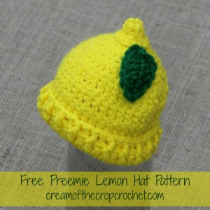 Preemie Lemon Hat ~ Cream Of The Crop Crochet