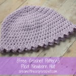 Picot Newborn Hat ~ Cream Of The Crop Crochet
