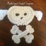 Puppy Skull n Bones Applique ~ Manda Proell – MandaLynn's Crochet Treasures