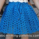 American Girl Doll Seashell Summer Skirt ~ ABC Knitting Patterns