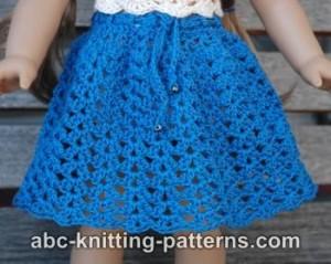 American Girl Doll Seashell Summer Skirt ~ ABC Knitting Patterns