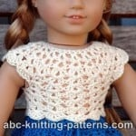 American Girl Doll Seashell Summer Top ~ ABC Knitting Patterns