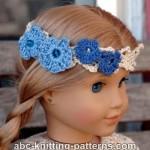 American Girl Doll Flower Headband ~ ABC Knitting Patterns