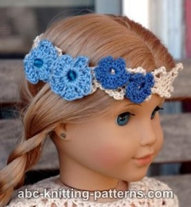 American Girl Doll Flower Headband ~ ABC Knitting Patterns